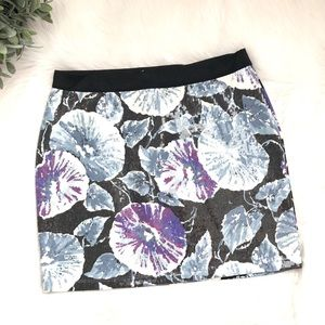 NWOT Pins and Needles Printed Sequin Mini Skirt